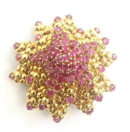 Ruby and Diamond Brooch, Tiffany & Co.