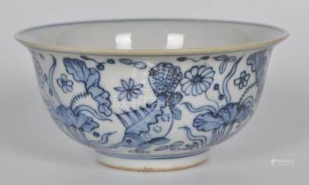 青花鱼藻纹碗