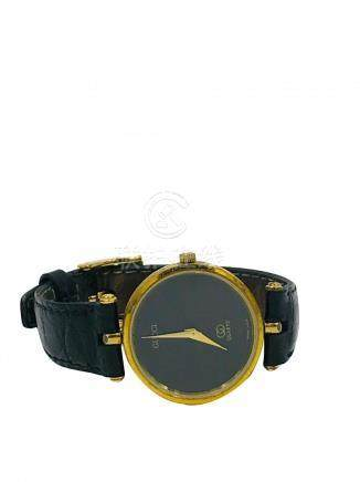 Gucci, Quartz Black Dial 30 mm Watch, Black Strap