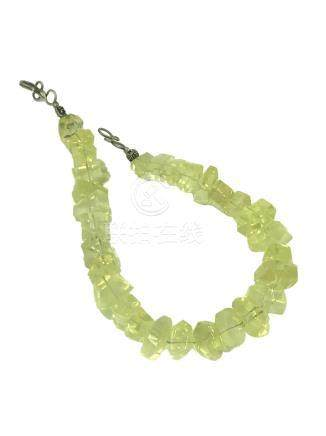 KC Designer, Lemon Quartz Large Bead Necklace, Sterling