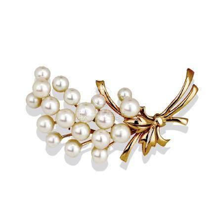 Mikimoto Pearl Pin, AAA 4.5-7.0 MM