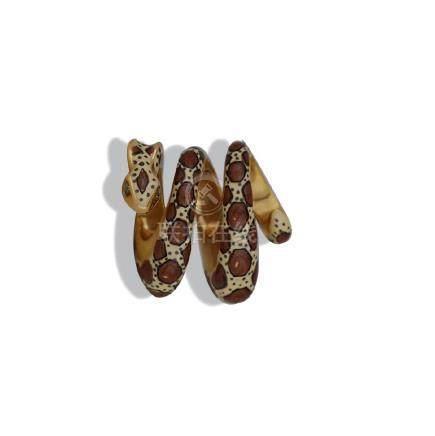 Gold, Enamel Snake Pendant, SLC Designer