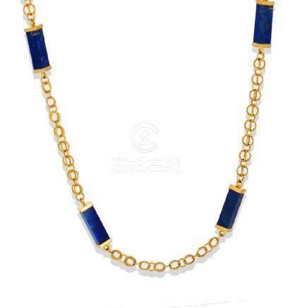 Handmade, Lapis Lazuli 30 Inch Link, Quality Chain