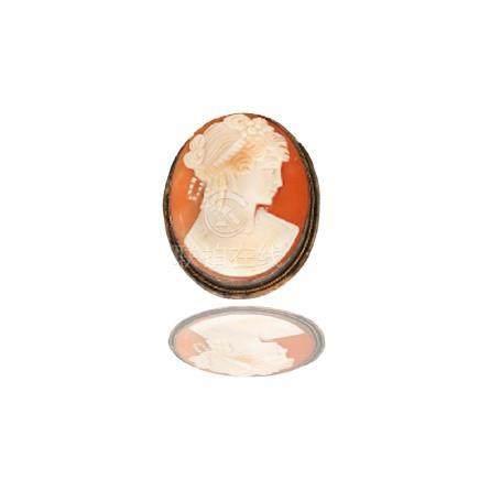 Cameo Pin, Sterling Silver Circa 1850