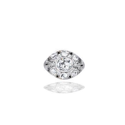 Art Deco, Diamond Dome Ring, Platinum, Circa 1875, 1.75