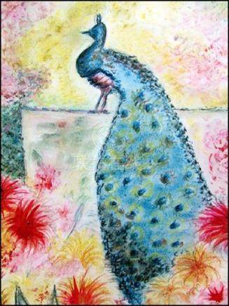 Peacock - Jean Metzinger - Pastel On Paper