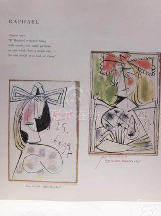 Signed Lithograph - Pablo Picasso H24
