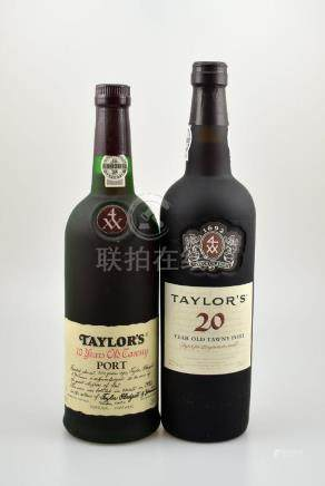 2 bottles of port wine, Taylor's 10 Years Old Tawny
