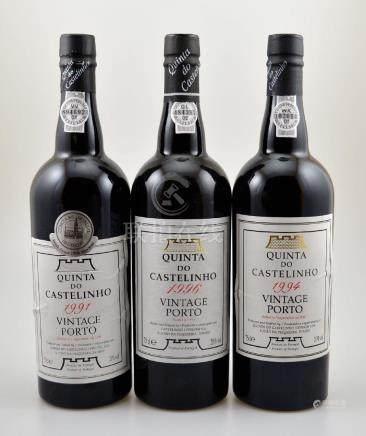 3 bottles of Quinta do Castelinho Vintage Port,