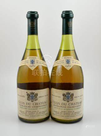 2 bottles of 1982 Chateau Clos du Bourgogne Chardonnay