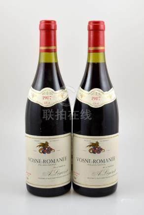 2 bottles of 1987 Vosne-Romanee, A. Ligeret