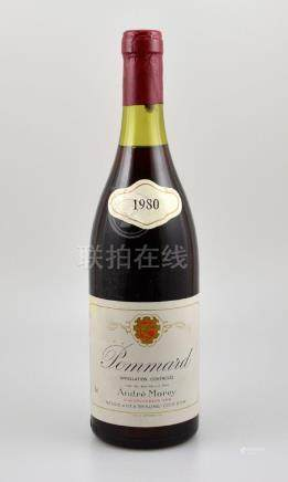4 bottles of 1980 Pommard Andre Morey, each approx 75
