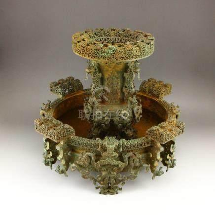 Warring States Period Bronze Wine Warmer Burner