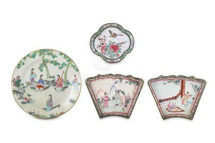 A CHINESE FAMILLE ROSE 'LADIES' PLATE. Qing Dynasty, 18th Century. Finely painted with six ladies in
