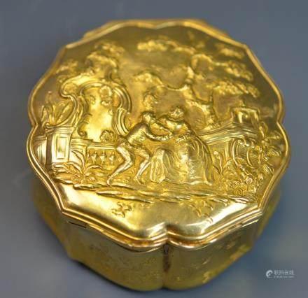 Antique 18k Gold Snuff Box