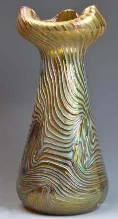 Loetz Gold Flower Top Vase