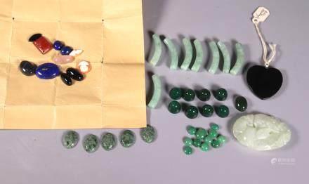 Group Gemstones; Jadeite, Jade, Hardstone, Etc.