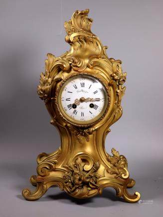 French 19 Century Ormolu Bronze Shelf Clock