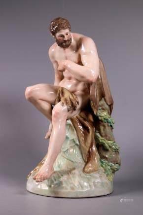 KPM Berlin Enameled Porcelain Hercules