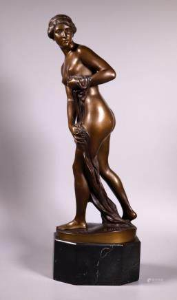 Rudolf Kaesbach; Bronze Female Nude Nausicaa 1911