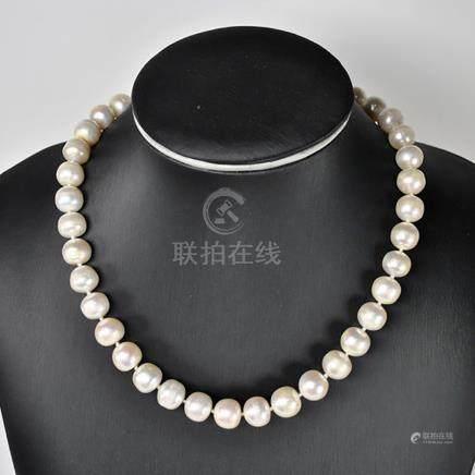 Gargantilla de Perlas cultivadas naturales con cierre de Pla
