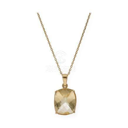 Gargantilla realizada en oro amarillo de 750 milésimas (18kt
