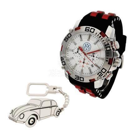 Reloj de caballero S&S para volkswagen y Llavero de plata st