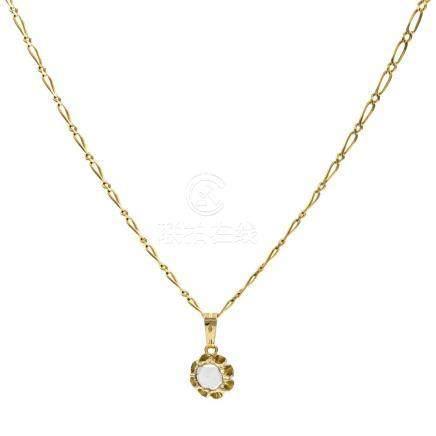 Gargantilla formada por cadena con eslabones de oro amarillo