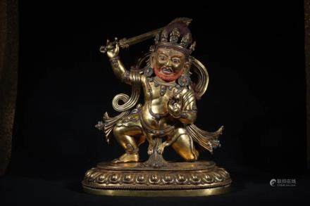 A GILT-BRONZE FIGURE OF HAYAGRIVA