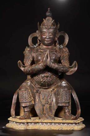 A BRONZE FIGURE OF MAHAKALA