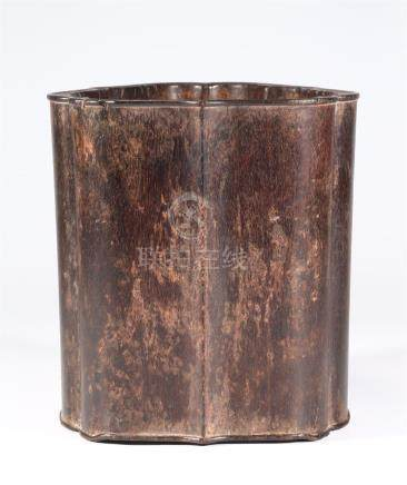 CHINESE ZITAN BRUSH POT