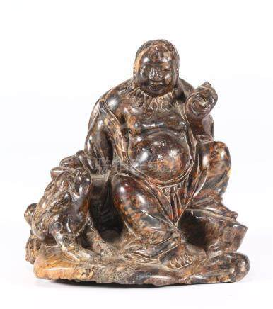 CHINESE SOAPSTONE FIGURE OF LIU HAI