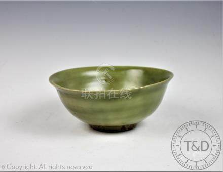 A Chinese celadon bowl, possibly Ming Dynasty,