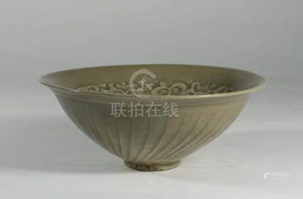 宋代-耀州窯印花碗