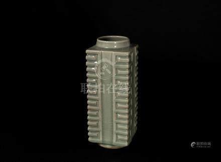 宋代-龍泉窯琮式瓶