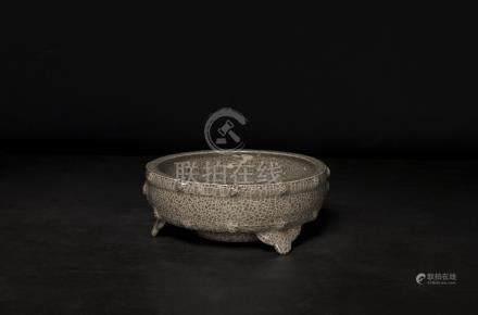 宋代-龍泉溪口官窯鼓式洗