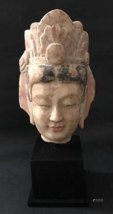 Northern Qi Guanyin Head Sculpture