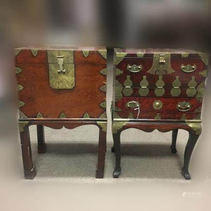 Two Antique Chinese Wood Chest