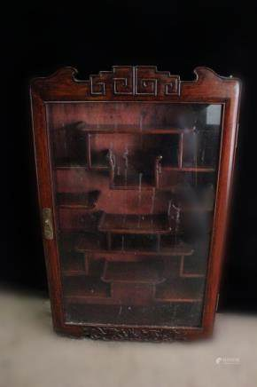 19th.C Chinese Wood Wall Cabinet for Small Subject
