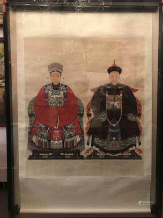 Chinese Painting w Frame