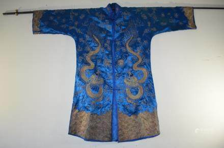 19th C. Chinese Silk Embroidery .