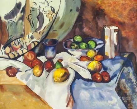 Style of Paul Cezanne Framed Still life