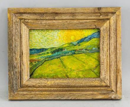 Gouache Board Landscape Style of Vincent Van Gogh