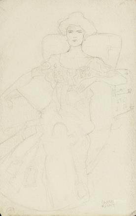 Gustav Klimt Austrian Symbolist Graphite on Paper