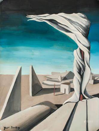 Yves Tanguy French Surrealist Gouache on Paper