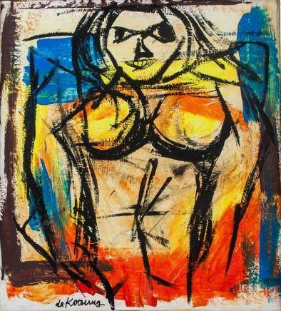 Willem de Kooning Dutch AbstractOil on Canvas