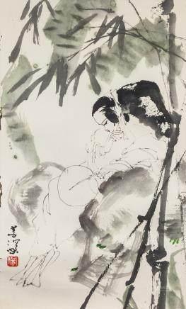 Yang Shanshen 1913-2004 Chinese Watercolor Beauty