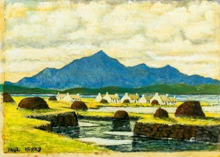 Paul Henry Irish Impressionist Oil on Board
