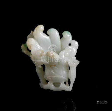 Chinese White Jade Carving of a Finger Citron