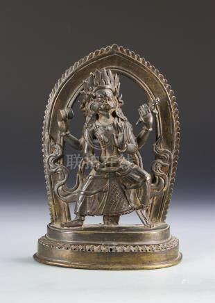 Tibetan Bronze Buddhist Figure